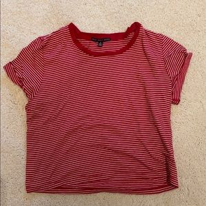 Striped red and white tee